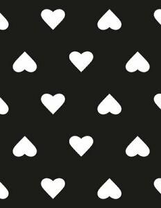 My Recipe Journal (Create Your Own Cookbook): Black and White Hearts: 150 Pag…