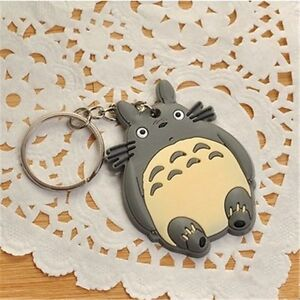 Cartoon Studio Ghibli My Neighbor Totoro Rubber Keychain Key Ring Charm Pendant