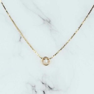 Diamond Slide Pendant Necklace 18