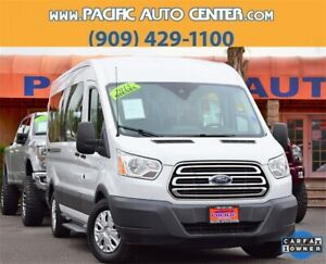 2015 Ford Transit Connect XLT 2015 Ford Transit-350 XLT 19837 Miles Oxford White 3D Medium Roof Wagon Power St