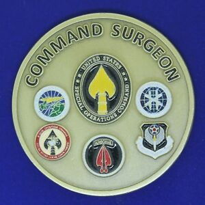 US Army HSS Advocate & Synchronize Command Surgeon Challenge Coin Z-3