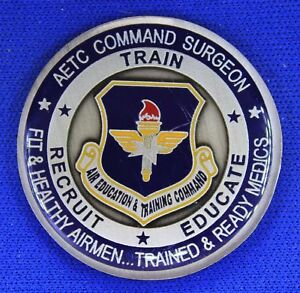 USAF AETC Command Surgeon Col Robert Miller Challenge Coin O-2