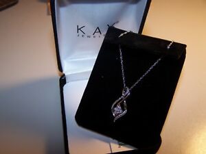 NEW KAY JEWELERS DESIGNER  STERLING SILVER PENDANT & CHAIN  NECKLACE NIB