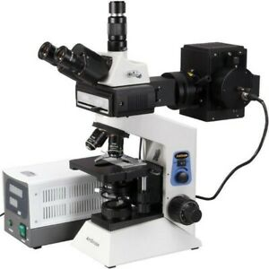 AmScope 100x-2000x Infinity Plan EPI-Fluorescent Trinocular Compound Microscope