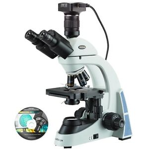 AmScope 40X-2000X LED Biological Trinocular Compound Microscope with 20MP USB3.0