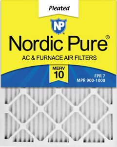 Nordic Pure 8x20x1 Exact MERV 10 Pleated AC Furnace Air Filters 4 Pack