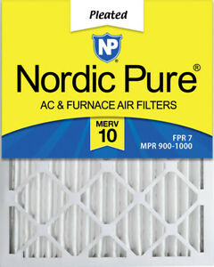 Nordic Pure 8x20x2 Exact MERV 10 Pleated Air Filters 4 Pack