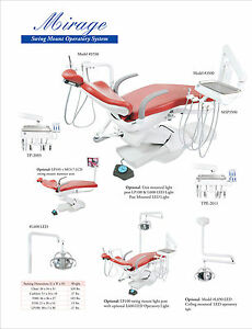 TPC Dental Mirage MP2015-600LED Chair Mounted Operatory System WITH CUSPIDOR