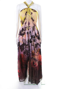 Matthew Williamson Womens Gown Size 10 Multi Color Tropical $2785 10885165