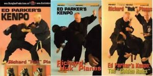 3 DVD Set Ed Parker Chinese American Kenpo Karate techniques Huk Planas
