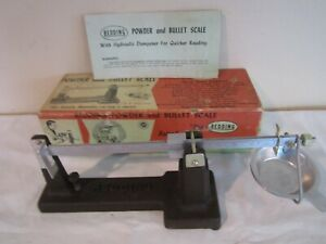 REDDING POWDER AND BULLET SCALE WITH HYDRAULIC DAMPENER-ORIGINAL BOX