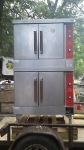 VULCAN NATURAL GAS DOUBLE STACK CONVECTION OVEN MODEL VC4GD-40