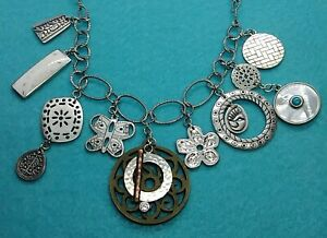 Silpada Sterling Silver Rep Exclusive 10 Year Anniver. Charm Necklace