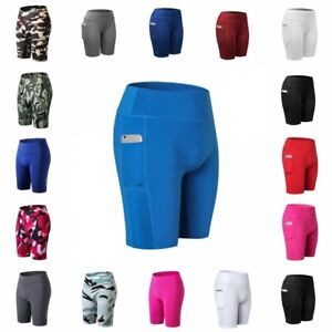 Women Gym Sports Compression Shorts Trousers Athletic Fitness Running Yoga Pants
