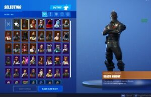 Fortnite account with black knight - 45 skins