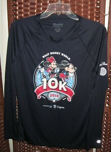 Champion Disney World Run 2018 10K shirt M womens navy Mickey Minnie