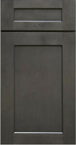 Shaker Charcoal Gray Stained Kitchen Cabinets All wood, in stock Sample door-RTA