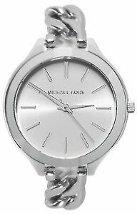 Michael Kors Women's MK3279 Slim Runway Stainless Steel Chain Bracelet Watch