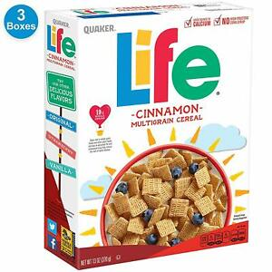 Quaker Life Cinnamon Cereal, 13 oz Boxes, 3 Count