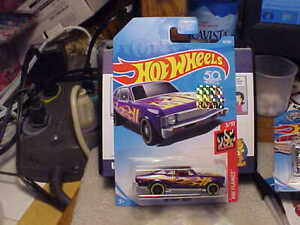 Hot Wheels HW Flames '68 Chevy Nova Purple with 2018 Factory Seal Sticker