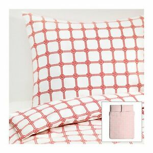 IKEA 3PC set - LISEL Duvet with 2 pillowcases 120 thread Full/Queen ROPE KNOT