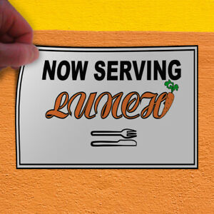 Decal Sticker Now Serving Lunch2 Restaurant & Food Now Serving Lunch Store Sign