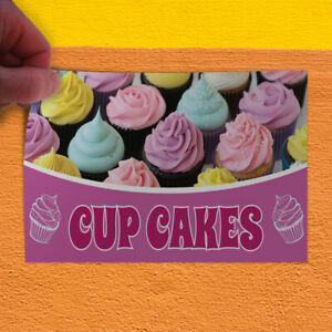 Decal Sticker Cup Cakes #1 Style A Food & Beverage sweet cupcakes Store Sign