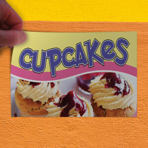 Decal Sticker Cupcakes #1 Style A Food & Beverage sweet cupcakes Store Sign