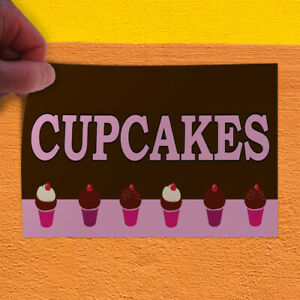 Decal Sticker Cupcakes brown Food & Beverage Cupcakes Outdoor Store Sign Brown