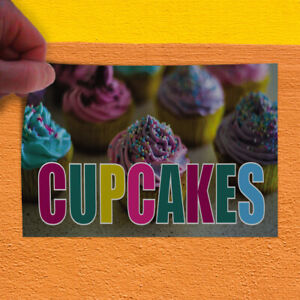Decal Sticker Cupcakes #1 Style C Restaurant & Food Cupcakes Outdoor Store Sign