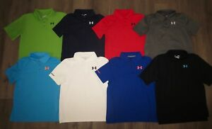 Lot 8 Boys UNDER ARMOUR Match Play Short Sleeve Polo Golf Shirts YLG Large 1416
