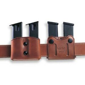 Galco DMC26 Tan Double Mag Carrier For 45 ACP10mm Single Stack Magazines