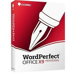 Corel WordPerfect Office v.X9 Professional Edition - Box Pack (Upgrade) - 1 - -