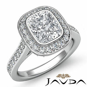Natural Cushion Diamond Elegant Engagement Ring GIA G VS2 Clarity Platinum 1.5ct