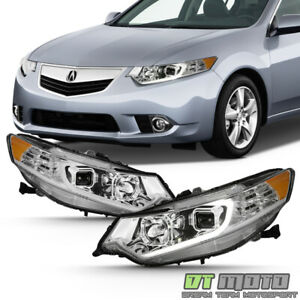 HID Type Chrome 2009 2014 Acura TSX LED DRL Projector Headlights Headlamps Set $298.99