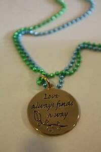 DISNEY COUTURE THE PRINCESS amp; THE FROG LOTUS #x27;LOVE ALWAYS FINDS A WAY#x27; NECKLACE