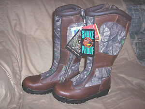 Womens 9 Boots Snake Proof Boots Water Proof Boots Camo Hunting Boots Leather