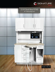 12 O'Clock Rear Cabinet Standard Designer White - Buff Riverstone - Telescoping