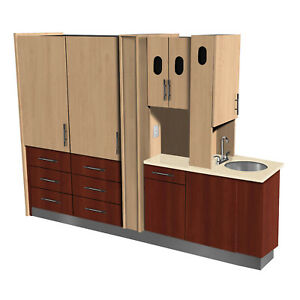 Signature Series Center Island Cabinet Complete Choose Color - Square Standard