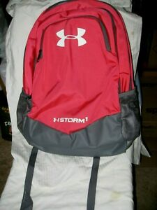 UNDER ARMOUR UA STORM 1 SCRIMMAGE WATER RESISTANT HEATGEAR REDGRY BACKPACK  NWT