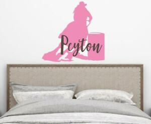 Barrel Racing Horse Name Wall Decal Rodeo Horse Personalized Name Wall Art
