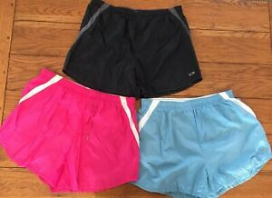 Lot of 3 Pairs of Champion Medium Running Shorts Women's Exercise Lined (32)