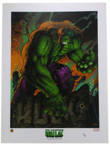 The Incredible Hulk Lithograph Signed with Sketch by Randy Queen 25499 Marvel $79.95