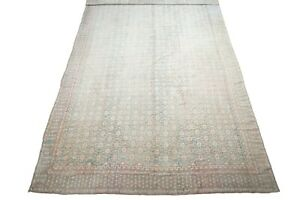 Antique 13X20 Wool & Cotton Agra Area Rug Oversized Oriental Hand Knotted Carpet