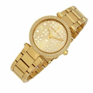 Michael Kors MK6469 Mini Parker Gold-Tone Stainless Steel Bracelet Women's Watch