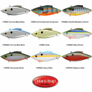 Rat-L-Trap Lipless Crankbait 13oz FLOATING Any 9 Color Bill Lewis FR Lures