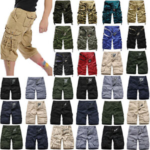 Mens Casual Camo Shorts Combat Short Pants Military Army Cargo Work Trousers