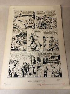 JOHN WAYNE #20 original art BULLET IN HEART MAD MAN 1953 STEAL FIANCEE action