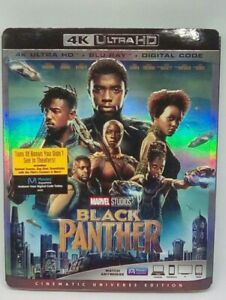 Black Panther 4K Ultra HD + Blu Ray + Digital Code w Slipcover New