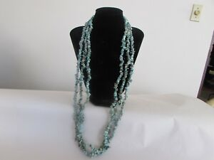 African turquoise chip necklace set of 3  from jewelry television